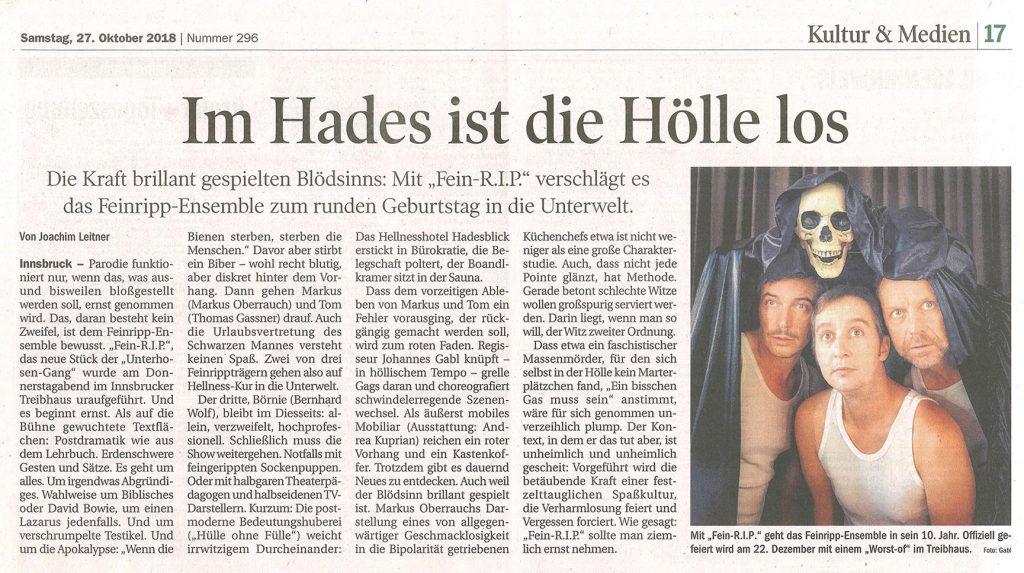 Feinripp Ensemble - Tiroler Tageszeitung